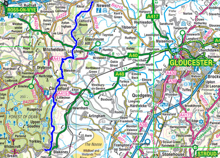 Great English Walk map of section 2
