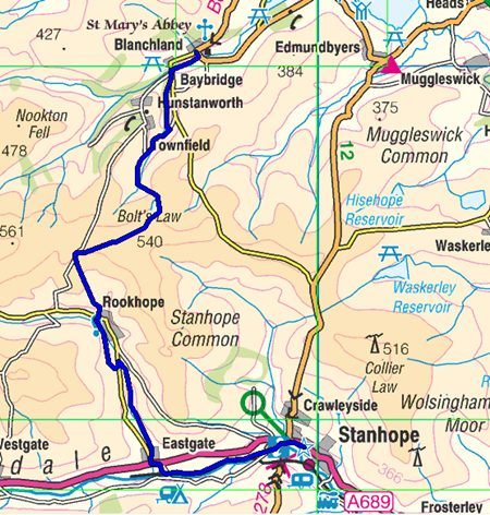 Great English Walk map of section 34